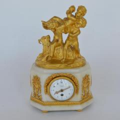 Marble and Bronze Clock Garniture after Jean Michel Clodion French 1738 1814 - 2067126