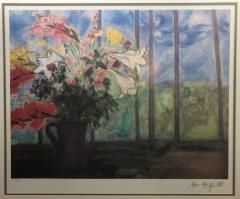 Marc Chagall Marc Chagall Lithograph Bouquet de fleurs devant une fenetre ouverte Signed - 1802105