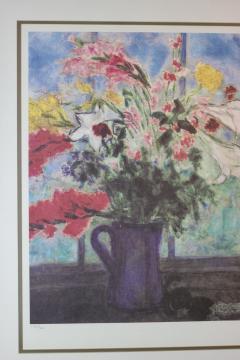 Marc Chagall Marc Chagall Lithograph Bouquet de fleurs devant une fenetre ouverte Signed - 1802106