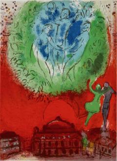 Marc Chagall Paris Fantastique Original colour lithographs 1954  - 1471844