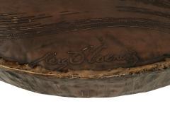 Marc DHaenens Belgian Post War Design Round Sculptural Coffee Table - 462753