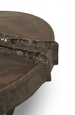 Marc DHaenens Belgian Post War Design Round Sculptural Coffee Table - 462755