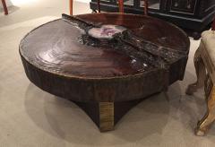 Marc DHaenens Belgian Post War Design Round Sculptural Coffee Table - 462757