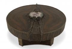 Marc DHaenens Belgian Post War Design Round Sculptural Coffee Table - 462758