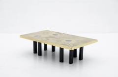 Marc DHaenens etched brass coffee table attributed to Marc Dhaenens  - 778546