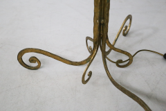 Marc Du Plantier Floor Lamp Midcentury by Marc du Plantier in Brass and Parchment 1950s - 1340726