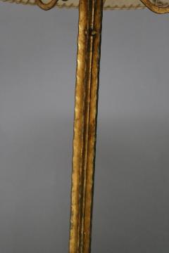 Marc Du Plantier Floor Lamp Midcentury by Marc du Plantier in Brass and Parchment 1950s - 1340738