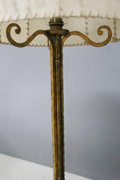 Marc Du Plantier Floor Lamp Midcentury by Marc du Plantier in Brass and Parchment 1950s - 1340739