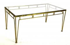 Marc Du Plantier Marc Duplantier style long gold leaf wrought iron dinning table - 1689711