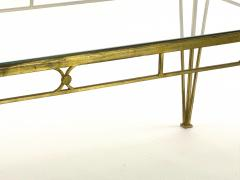 Marc Du Plantier Marc Duplantier style long gold leaf wrought iron dinning table - 1689714