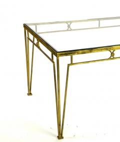 Marc Du Plantier Marc Duplantier style long gold leaf wrought iron dinning table - 1689715