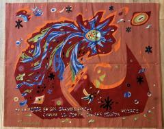 Marc Saint Sa ns Original Aubusson Red Tapestry by Marc Saint Sa ns Adventure - 1294588