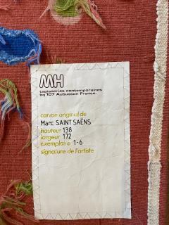 Marc Saint Sa ns Original Aubusson Red Tapestry by Marc Saint Sa ns Adventure - 1294589