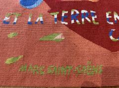 Marc Saint Sa ns Original Aubusson Red Tapestry by Marc Saint Sa ns Adventure - 1294590