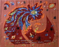 Marc Saint Sa ns Original Aubusson Red Tapestry by Marc Saint Sa ns Adventure - 1295827