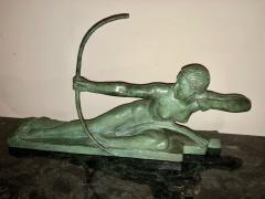 Marcel Andre Bouraine Art Deco Bronze Sculpture by Bouraine of Amazon Queen Penthesilea - 1331214