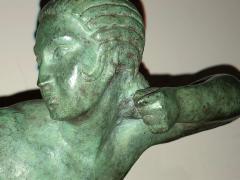 Marcel Andre Bouraine Art Deco Bronze Sculpture by Bouraine of Amazon Queen Penthesilea - 1331215