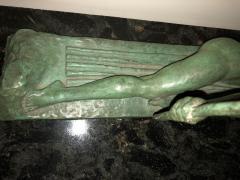Marcel Andre Bouraine Art Deco Bronze Sculpture by Bouraine of Amazon Queen Penthesilea - 1331217