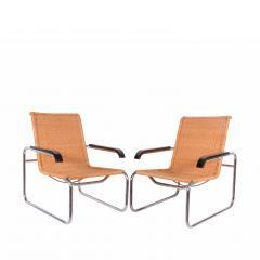 Marcel Breuer Pair B35 Marcel Breuer easy chairs - 958470