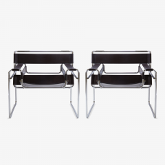 Marcel Breuer Wassily Chairs in Brown Leather by Marcel Breuer for Gavina - 444962