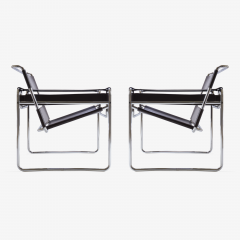 Marcel Breuer Wassily Chairs in Brown Leather by Marcel Breuer for Gavina - 444963