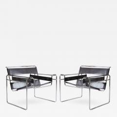 Marcel Breuer Wassily Chairs in Brown Leather by Marcel Breuer for Gavina - 445769