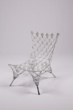 Marcel Wanders Marcel Wander Limited Edition Silver Knotted Rope Chair for Cappellini - 450755