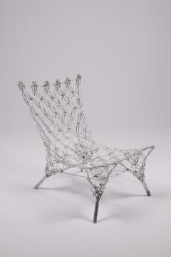 Marcel Wanders Marcel Wander Limited Edition Silver Knotted Rope Chair for Cappellini - 450756