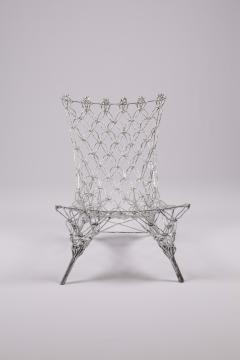 Marcel Wanders Marcel Wander Limited Edition Silver Knotted Rope Chair for Cappellini - 450757
