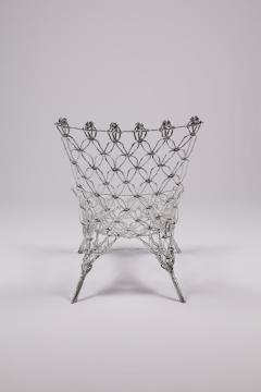 Marcel Wanders Marcel Wander Limited Edition Silver Knotted Rope Chair for Cappellini - 450758
