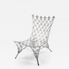Marcel Wanders Marcel Wander Limited Edition Silver Knotted Rope Chair for Cappellini - 454707