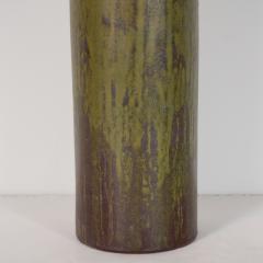 Marcello Fantoni FANTONI CERAMIC TALL GREEN LAMP - 1845917