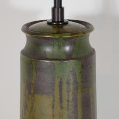 Marcello Fantoni FANTONI CERAMIC TALL GREEN LAMP - 1845919