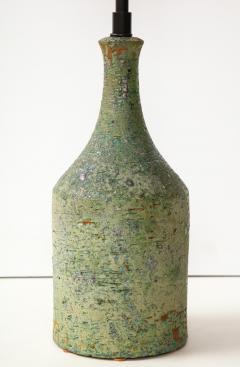 Marcello Fantoni FANTONI LAMP IN TEXTURED PALE GREEN GLAZE - 1790017