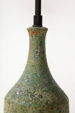 Marcello Fantoni FANTONI LAMP IN TEXTURED PALE GREEN GLAZE - 1790018