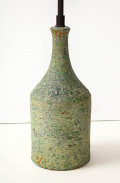 Marcello Fantoni FANTONI LAMP IN TEXTURED PALE GREEN GLAZE - 1790019