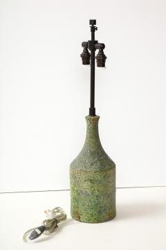 Marcello Fantoni FANTONI LAMP IN TEXTURED PALE GREEN GLAZE - 1790024