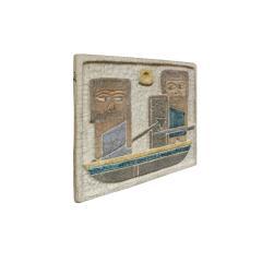 Marcello Fantoni Marcello Fantoni Figural Ceramic Wall Plaque 1950s - 511822