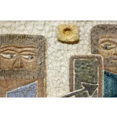 Marcello Fantoni Marcello Fantoni Figural Ceramic Wall Plaque 1950s - 511825