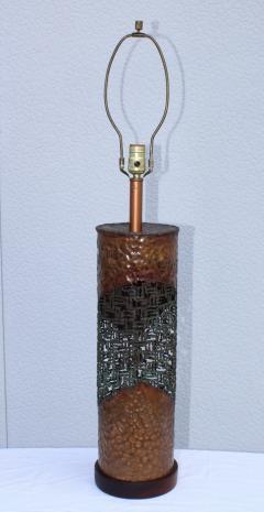 Marcello Fantoni Marcello Fantoni For Raymor Brutalist Copper Table Lamps - 1985975