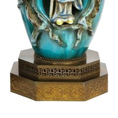Marcello Fantoni Marcello Fantoni Pair of Superb Ceramic Table Lamps with Chinese Figures 1950s - 2019638