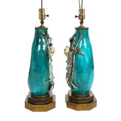 Marcello Fantoni Marcello Fantoni Pair of Superb Ceramic Table Lamps with Chinese Figures 1950s - 2019639