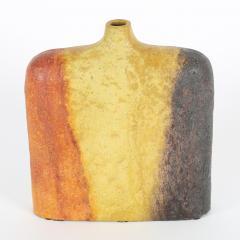 Marcello Fantoni Orange Yellow and Brown Marcello Fantoni Vase circa 1960s - 674457