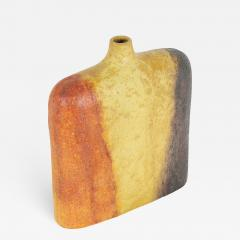 Marcello Fantoni Orange Yellow and Brown Marcello Fantoni Vase circa 1960s - 679214