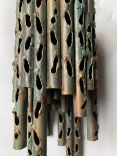 Marcello Fantoni Pair Of Metal Brutalist Style Sconces By Marcello Fantoni 1960s - 2062096