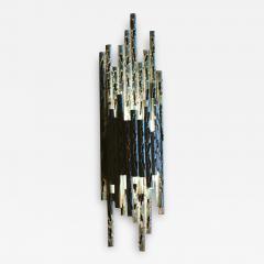 Marcello Fantoni Pair Of Metal Brutalist Style Sconces By Marcello Fantoni 1960s - 2064952