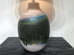 Marcello Fantoni Pair of Massive Fantoni Signed Ceramic Handmade Glazed Lamps - 1947514