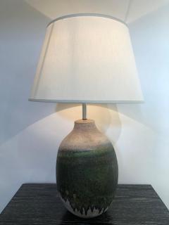 Marcello Fantoni Pair of Massive Fantoni Signed Ceramic Handmade Glazed Lamps - 1947543