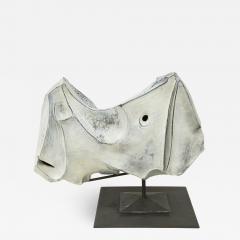 Marcello Fantoni Rhinoceros ceramic sculpture by Marcello Fantoni 1973 - 1051777
