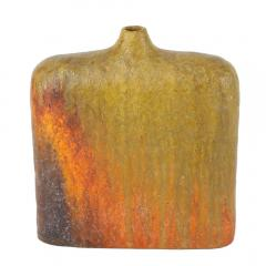 Marcello Fantoni Signed Marcello Fantoni Orange and Green Vase - 469774